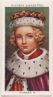 King Edward V, published by John Player & Sons, after  George Vertue - NPG D48127