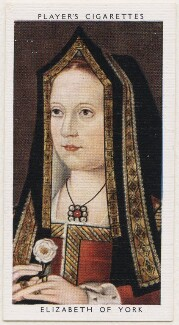 Elizabeth of York, published by John Player & Sons, after  Unknown artist - NPG D48130