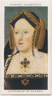 Katherine of Aragon, published by John Player & Sons, after  Unknown artist - NPG D48132