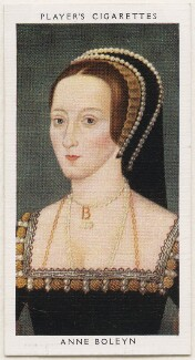 Anne Boleyn, published by John Player & Sons, after  Unknown artist - NPG D48133