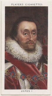 King James I of England and VI of Scotland, published by John Player & Sons, after  Daniel Mytens - NPG D48138