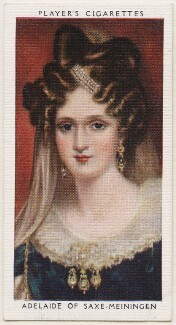 Queen Adelaide (Princess Adelaide of Saxe-Meiningen), published by John Player & Sons, after  Sir William Beechey - NPG D48155