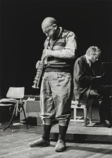 George Lowen ('Lol') Coxhill; Veryan Weston, by John Walmsley - NPG x200031