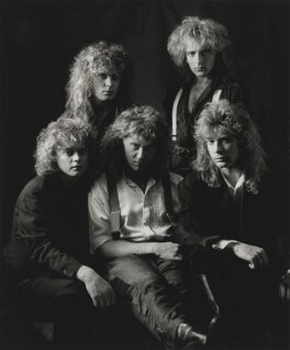 Def Leppard (Rick Allen; Rick Savage; Joe Elliot; Phil Collen; Steve Clark), by Laurie Lewis - NPG x200021