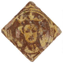 Unknown sitter ('Floor tile with an image of a king or queen'), by Unknown artist - NPG D48194