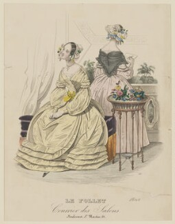 Toilette d'Interieur, September 1839, published by Dobbs & Co, published in  The Court Magazine and Monthly Critic and Lady's Magazine and Museum, first published in  Le Follet, Courrier des Salons, Journal des Modes - NPG D47851