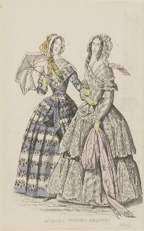 'Morning visiting dresses', July 1845, published by George Henderson, published in  The Ladies' Cabinet of Fashion, Music and Romance - NPG D47949