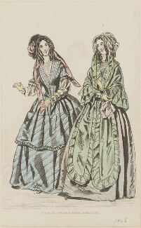 'Public promenade dresses', August 1845, published by George Henderson, published in  The Ladies' Cabinet of Fashion, Music and Romance - NPG D47959