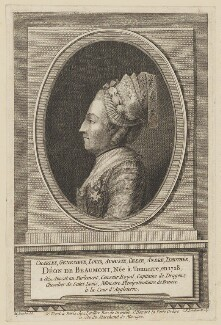 Chevalier d'Eon, by and published by Charles François Le Tellier (Letellier), after  Johan Michael Baader - NPG D48162