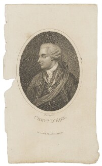 Chevalier d'Eon, by Mackenzie, published by  Thomas Hurst - NPG D48166