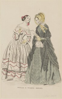 'Evening and walking dresses', July 1844, published by George Henderson, published in  The Ladies' Cabinet of Fashion, Music and Romance - NPG D47935