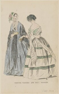'Morning visiting and ball dresses', July 1844, published by George Henderson, published in  The Ladies' Cabinet of Fashion, Music and Romance - NPG D47938