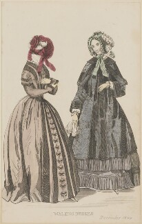 'Walking dresses' for the Paris Public Promenade, December 1844, published by George Henderson, published in  The Ladies' Cabinet of Fashion, Music and Romance - NPG D47944