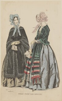 'Public promenade dresses', November 1844, published by George Henderson, published in  The Ladies' Cabinet of Fashion, Music and Romance - NPG D47943