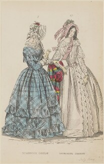 'Morning dress. Morning dress', June 1844, published by George Henderson, published in  The Ladies' Cabinet of Fashion, Music and Romance - NPG D47922