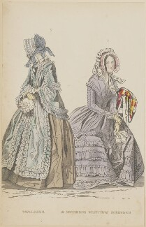 'Walking and morning visiting dresses', June 1844, published by George Henderson, published in  The Ladies' Cabinet of Fashion, Music and Romance - NPG D47942