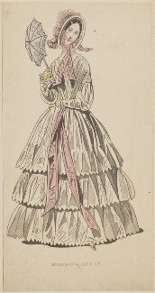 'Morning dress', September 1842, published by George Henderson, published in  The Ladies' Cabinet of Fashion, Music and Romance - NPG D47948