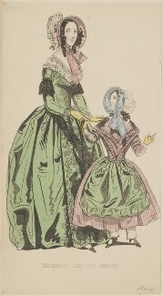 'Morning visiting dress', April 1842, published by George Henderson, published in  The Ladies' Cabinet of Fashion, Music and Romance - NPG D47945
