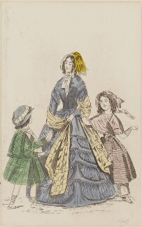 Public promenade dress, July 1846, published by Elizabeth Henderson, published in  The Ladies' Cabinet of Fashion, Music and Romance - NPG D47968