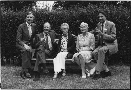 Sir Alan Bowness; John Hulton; (Katherine) Lilian Somerville (née Tillard); Margaret Henderson McLeod; Julian Andrews, by Anthony Stokes - NPG x200043