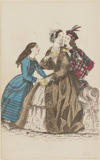 Morning dress, published by Elizabeth Henderson, published in  The Ladies' Cabinet of Fashion, Music and Romance - NPG D47969