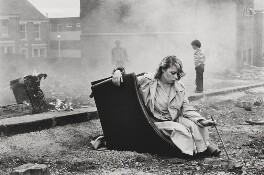 Karen Lafferty ('Saturday night on the dole'), by Tish Murtha - NPG x200066