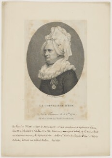 Chevalier d'Eon, by Jean Condé, published by  John Sewell - NPG D48168