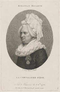 Chevalier d'Eon, by Jean Condé, published by  John Sewell - NPG D48169