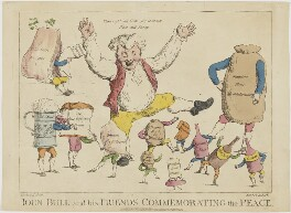 John Bull and his Friends Commemorating the Peace, by Piercy Roberts, after  George Murgatroyd ('Moutard') Woodward - NPG D48174