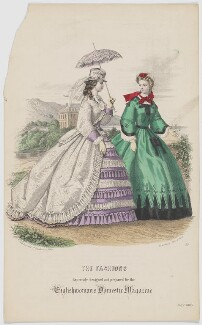 'The Fashions', July 1863, published by Samuel Orchart Beeton, published in  The Englishwoman's Domestic Magazine, first published in  Le Moniteur de la Mode - NPG D48005