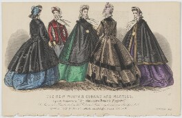 'The New Winter Cloaks and Mantles', October 1863, published by Samuel Orchart Beeton, published in  The Englishwoman's Domestic Magazine, first published in  Le Moniteur de la Mode - NPG D48006