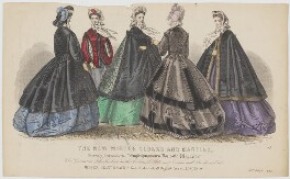 'The New Winter Cloaks and Mantles', October 1863, published by Samuel Orchart Beeton, published in  The Englishwoman's Domestic Magazine, first published in  Le Moniteur de la Mode - NPG D48007
