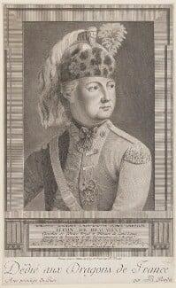 Chevalier d'Eon ('Charlotte-Genevieve-Louise-Auguste-Andrée-Thimothée D'Eon de Beaumont'), by and published by Pierre Jean Baptiste Bradel - NPG D48176