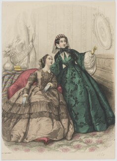 Home and visiting dress, April 1860, published by Rogerson & Tuxford, published in  The New Monthly Belle Assemblée, after  Héloise Leloir (née Colin) - NPG D47982