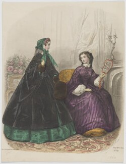 Walking and home dress, February 1860, published by Rogerson & Tuxford, published in  The New Monthly Belle Assemblée, after  Héloise Leloir (née Colin) - NPG D47983