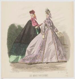 Promenade dresses, 1864, by A. Carrache, published in  Les Modes Parisiennes, after  François-Claudius Compte-Calix - NPG D48012