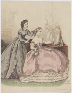Day and ball dresses, 1864, after Héloise Leloir (née Colin) - NPG D48015