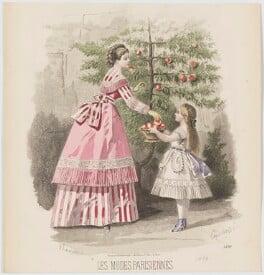 Afternoon dress, 1869, by A. Lacourière, published in  Les Modes Parisiennes, after  François-Claudius Compte-Calix - NPG D48040