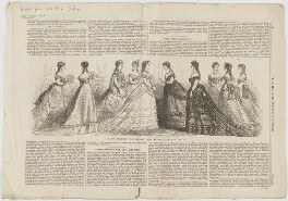 'Paris fashions for January: The Empress and her ladies' (including Eugénie, Empress of France), published in Illustrated London News - NPG D48034
