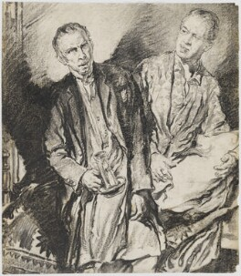 Ivor Barnard and Frank Petley in 'Bird in Hand', by Eric Pape - NPG D48184