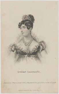 Caroline Amelia Elizabeth of Brunswick, by James Hopwood Jr, published by  Thomas Kelly, after  Unknown artist - NPG D48187