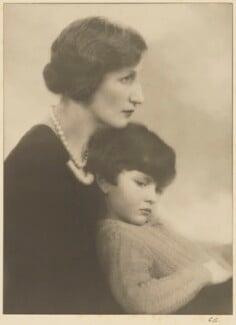(Helen) Violet Bonham Carter (née Asquith), Baroness Asquith of Yarnbury; Mark Raymond Bonham-Carter, Baron Bonham-Carter, by Marcus Adams, by  Gilbert Adams - NPG x199848