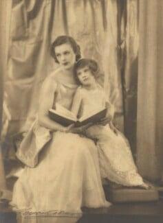 Anne Parsons (née Messel), Countess of Rosse; Susan Anne Vesey (née Armstrong-Jones), Viscountess de Vesci, by Marcus Adams - NPG x199853