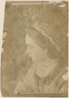 Untitled (unknown woman, possibly Rejlander's wife, Mary), by Oscar Gustav Rejlander, possibly printed by  Julia Margaret Cameron - NPG x200124