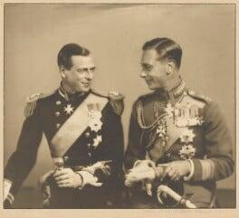 Prince George, Duke of Kent; King George VI, by Marcus Adams - NPG x199857
