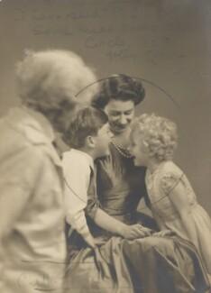 Marcus Adams; Prince Charles; Queen Elizabeth II; Princess Anne, by Marcus Adams - NPG x199858