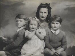 Dame Ann Parker Bowles with her children, by Marcus Adams - NPG x199864