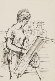 Elisabeth Frink, by Milein Cosman - NPG 7091