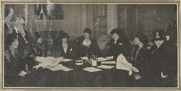 Elizabeth (née Asquith), Princess Bibesco; Vita Sackville-West; Hon. Dorothy Lowther (née Bromley-Davenport); Baroness Catherine d'Erlanger; Dame (Florence) Lilian Braithwaite; Hazel Lavery, by Emil Otto ('E.O.') Hoppé - NPG Ax105843