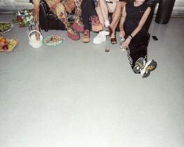 The Spice Girls (Mel B; Geri Halliwell; Emma Bunton; Victoria Beckham; Mel C), by Nigel Shafran - NPG x200144